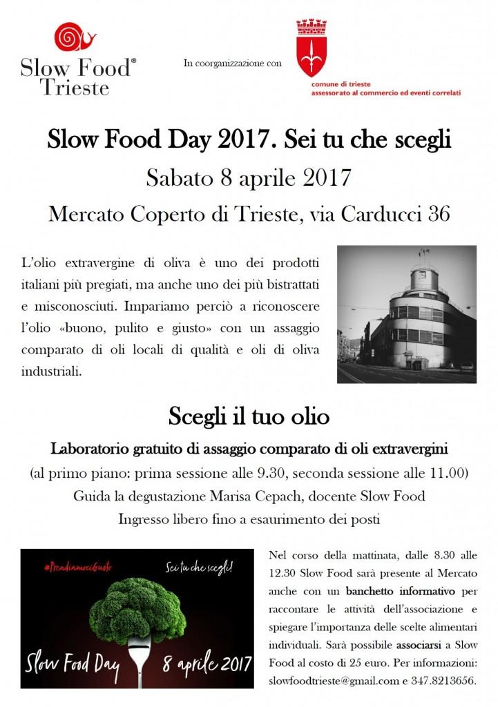 Locandina Slow Food Day 2017 - Sei tu che scegli