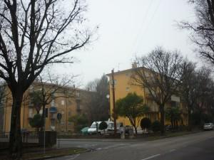 Udine, Via Fruch angolo Via Pola, case del Secondo Villaggio Giuliano